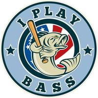 Largemouth bass playing baseball bat