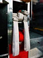 Closeup Of Fire Hoses
