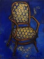 Blue and Gold Chair