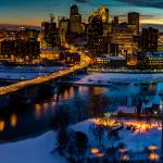 """Birds Eye View of the Minneapolis Skyline"" by GregLundgrenPhotography"