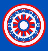 Red, White and Blue CIrcular Design