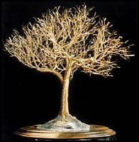 GOLDEN ELM - Wire Tree Sculpture, by Sal Villano