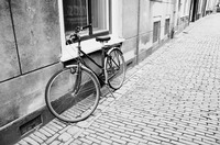 Bicycle on Cobblestones by Carol Groenen