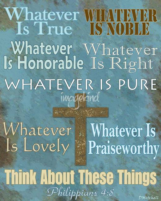 "Stunning ""Philippians 4:8"" Artwork For Sale On Fine Art Prints"