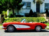 Red And White Corvette Convertible