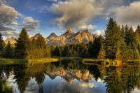 Tetons over Schwabacher's Beaver Pond