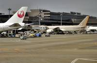 Narita Terminal 2, with Asiana B-777