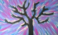 Colorful Expanse Tree Silhouette