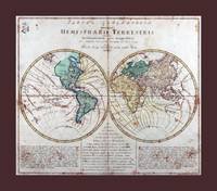 World  Map AD 1760 with Matching Small Border