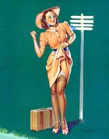 hitchiking pinup girl