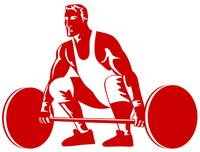 Weightlifter Preparing to Lift Weights