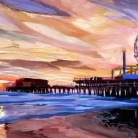 """Santa Monica Pier At Sunset"" by arthop77"