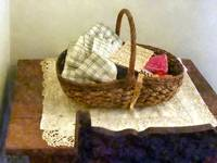 Basket With Cloth And Measuring Tape