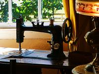 Sewing Machine And Lamp