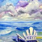 Beach Chair by Kris Courtney