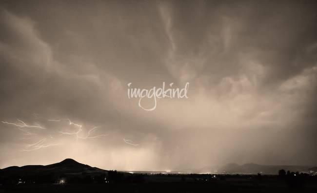 Spider Lightning Above Haystack Boulder Colorado S