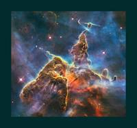 Mystic Mountain in Carina Nebula with medium borde