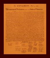 Declaration of Independence aged with small border