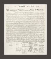 Declaration of Independence with medium border