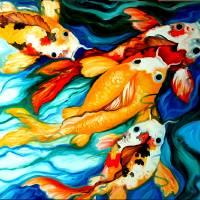 KOI SWIM KOI by Marcia Baldwin