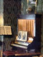 Piano And Sheet Music On Stand
