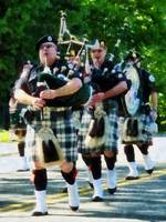 Line Of Bagpipers