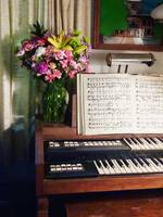 Organ And Bouquet Of Flowers