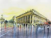 Grand theater - Bordeaux - Watercolor