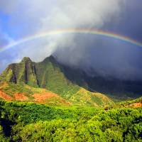 Kalalau Valley Rainbow Kauai Art Prints & Posters by Kevin W. Smith