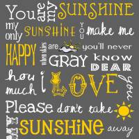 You Are My Sunshine Poster Art Prints & Posters by Jaime Friedman