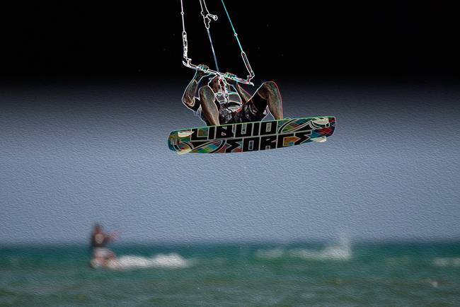 Mid-air Kiteboard