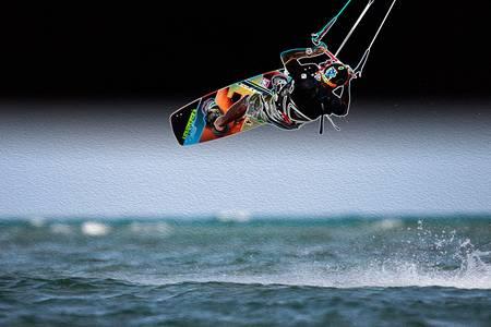 Kiteboard Mid-Air