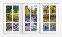 Autumn Creek White Picture Window Frame View