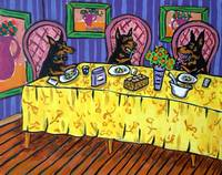 Doberman Pinscher Dinner Party