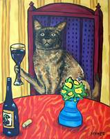 Burmese Cat making a Toast
