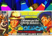 Belgian poster of The Man Who Shot Liberty Valance