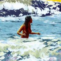 Sea bath Art Prints & Posters by Saurabh Dey
