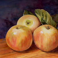 """Three Apples Art Painting"" by BlendaStudio"