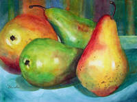 Four Pears Still Life