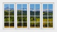 Colorado Rocky Mountains White Window Frame View