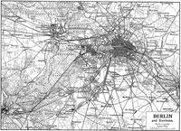 Vintage Map of Berlin Germany (1911)