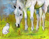 Best Friends Horse Art Painting