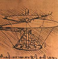 Design For A Helicopter  1500 AD