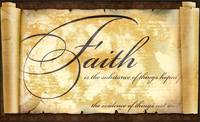 faith is parchment scroll