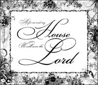 serve the lord floral illust frame