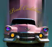 Pink Cadillac in motion