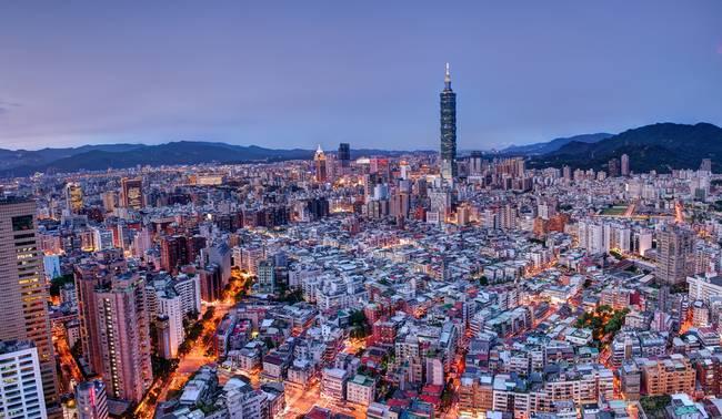 Taipei at Sunset