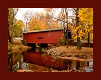 Bartram's Covered Bridge w/ large border