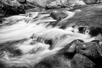 Flowing St Vrian Creek Black and White