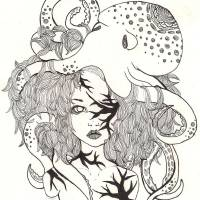 Octopus Fantasy Print Art Prints & Posters by Donna Genovese
